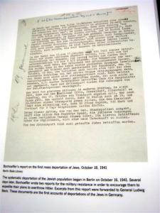 Bonhoeffer's Letter; 1st Report of Jewish Deportations