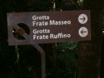Way to friars Masseo and Ruffino's caves