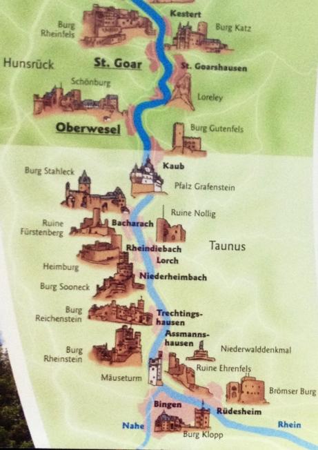 Rhine Castles Map