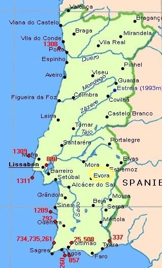 Map-Evora