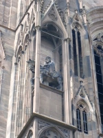 Cathedral Exterior - Statue